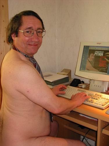 Didi nackt am PC